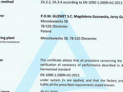 Certificate FPC 1090 EN