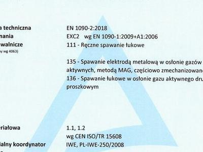 Welding Certificate FPC PL