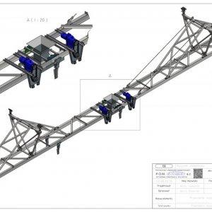 Konstrukcja wózka rozładowczego 3