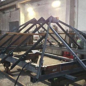 Stalowa więźba dachowa 2